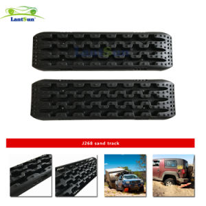 Lantsun J268 Black PP 10tons Recovery Traction Tracks for 4WD Sand Mud Snow off Road pictures & photos