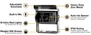"""Top-Rated Rear View CCD Camera Kit with 7"""" Industrial Level Monitor for Truck & Bus pictures & photos"""