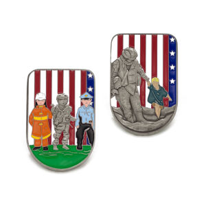 3D Enamel Firefighter Souvenir Challenge Coin pictures & photos