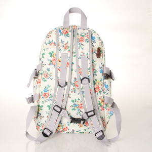 Waterproof PVC Canvas Floral Patterns White Backpack (23262) pictures & photos