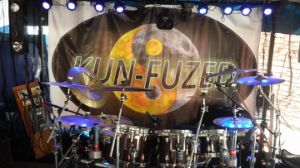 Wholesale Full Color Printing Band Stage Backdrop Fabric Banner pictures & photos