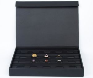 Leather Jewelry Box with PU for Storage and Display pictures & photos