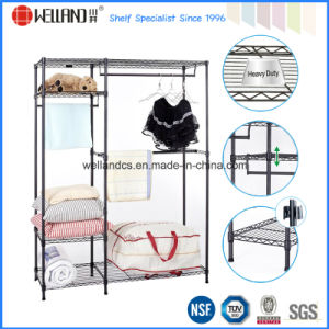 Epoxy Black Metal Bedroom Furniture Closet Wardrobe Rack with Oxford Cloths Fabric Cover pictures & photos