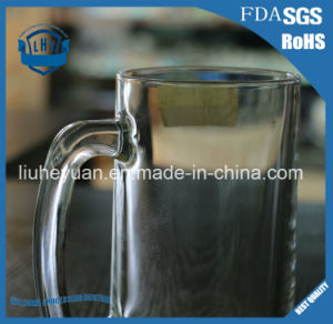 350ml Thick Transparent Beer Glass pictures & photos