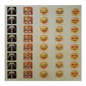 Clear Water Resistant Colorful Square PU Epoxy Resin Domed Emoji Stickers pictures & photos