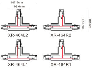 Three Circuits Track T Connector Be Popular in Market (XR-464) pictures & photos