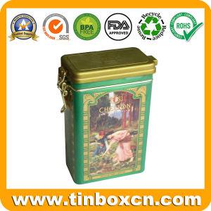 Food Packaging Rectangle Metal Tin Tea Box Factory pictures & photos