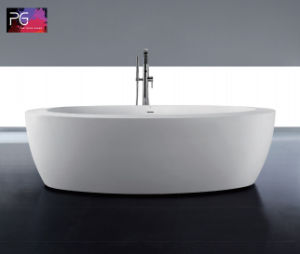 Big Size Round Shaped Freestanding Sitting Bathtub pictures & photos