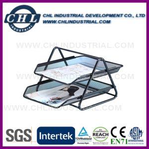 Factory Wholesale 2 Tier Cube Shape Desktop Mesh Document Tray pictures & photos