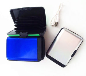 RFID Power Bank Function Aluma Credit Card Wallet pictures & photos
