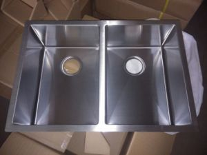Double Bowl SUS304 Stainless Steel Kitchen Sink pictures & photos
