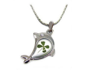Reak Four Leaf Lucky Clover Necklace Jewelry (LN13)