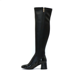 Wholesale Women Over The Knee High Heels Leather Boots pictures & photos