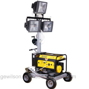 5kw Small Portable Mobile Light Tower Powered by Diesel or Gasoline Generator pictures & photos
