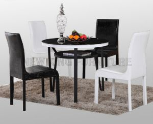 Modern Tempered Glass Dining Table for Dining Room Furniture (NK-DTB093)