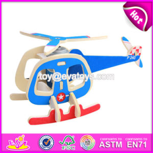 New Design Airplane Build Kit Funny Kids Wooden Assembly Toys W03b068 pictures & photos