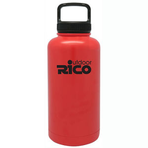 Durable Stainless Steel Vacuum Sports Bottle Red 64oz pictures & photos