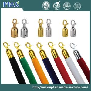 Crowd Control Barrier Velvet Rope with Chrome Hooks pictures & photos