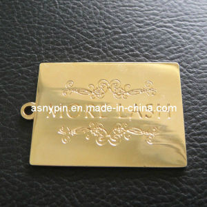 Gold Metal Plate Metal Tag Engraving Custom Logo pictures & photos