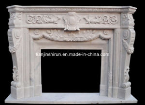 White Marble Fireplace (FP026) pictures & photos