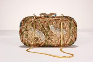 Evening Handbag with Topaz Crystal Ornament pictures & photos