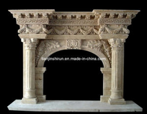 Marble Carved Fireplace (XF-526) pictures & photos