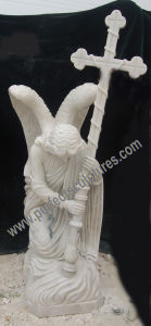 Granite Marble Kneeling Angel Statue for Tombstone Headstone Monument (SY-X1543) pictures & photos