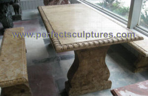 Stone Marble Table for Antique Garden Ornament (QTS017) pictures & photos
