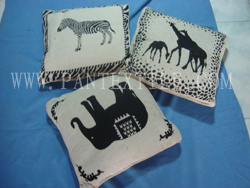 Animal Designs Chenille Cushion