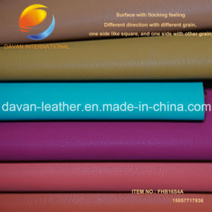 Silky Swede Flocking Feeling Synthetic Leather for Bags Shoes 2016 Hot pictures & photos