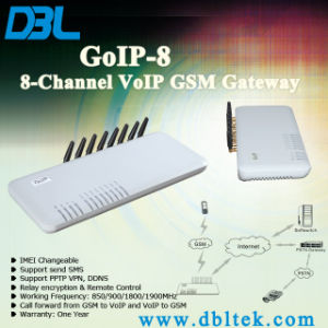 8 Channel GSM VoIP Gateway Brand New Dbl Quad Band 8 Channel GSM GoIP8 pictures & photos