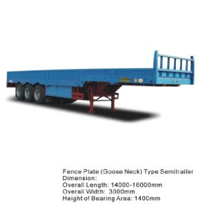 Approved ISO CCC 3 Axles 33t Side Wall Truck Trailer pictures & photos