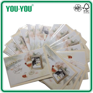 Birthday Card in Different Designs with Printed Envelopes