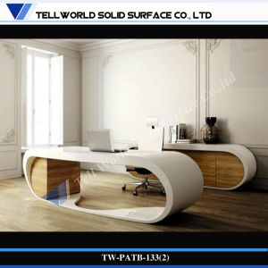 Morden Curved Office Desk Acrylic Solid Surface Modern Executive Desk CEO Table pictures & photos