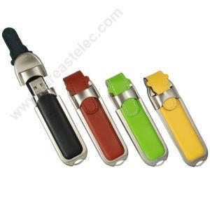Promotional Leather Pen USB Flash Drive Stick (UL01) pictures & photos