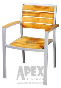 Aluminum Teak Wood Chair Garden Furniture Outdoor Wood Chair pictures & photos