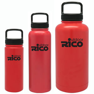 Durable Stainless Steel Vacuum Sports Bottle Red 18oz pictures & photos