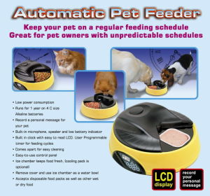 Pet Products--4 Meal Promo Pet Feeder
