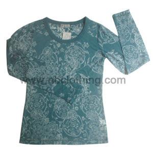 Ladies Printed Long Sleeve T-Shirt