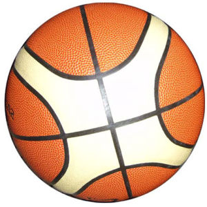 Basketball, Size 7, High Quality PVC Laminated Cover, 12panels (B02108) pictures & photos