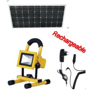 20W Outdoor Solar Rechargeable LED Flood Light