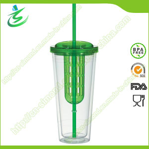 20 Oz Plastic Infused Tumbler with Straw and Cover pictures & photos