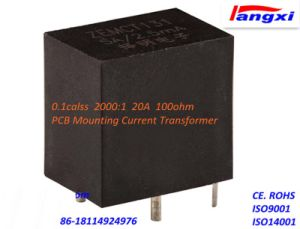 Zemct131A PCB Mounting Current Transformer 0.1calss 2000: 1 20A 100ohm pictures & photos