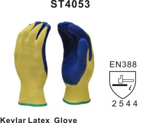 Supershield Cut Resistant Crinkle Finish Latex Glove (ST4053) pictures & photos