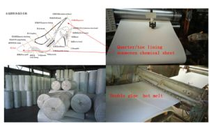Nonwoven Chemical Sheet Hot Melt Shoe Quarter and Toe Puff Material pictures & photos