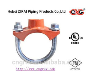 UL/FM Approved Ductile Iron Grooved Pipe Fitting U-Bolt Threaded Mechanical Tee pictures & photos