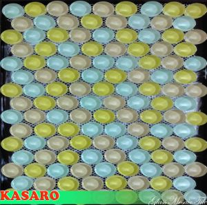Glass Tile Oval Mosaic, Oval Glass Mosaic Tile, Glass Mosaic Tile Oval (KSL-C11070)