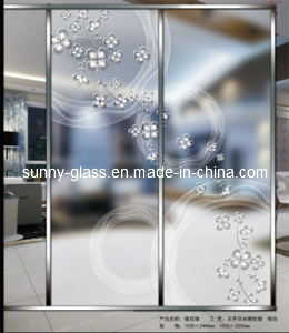 Acid Etched/Printed/Patterned/Art/Mirror Glass for Decoration Glass pictures & photos