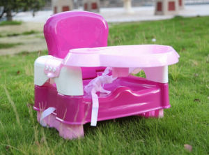 Foldable 3 Level Baby Feeding Booster Seat with Moveable Tray