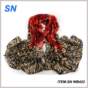 Fashionable Voile Material Printed Winter Scarf pictures & photos